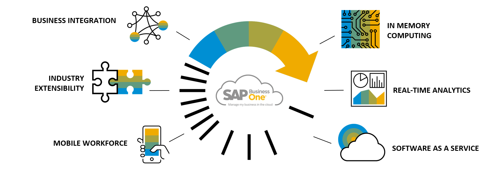 SAP Business One Cloud on HANA is your launch pad for digital transformation.