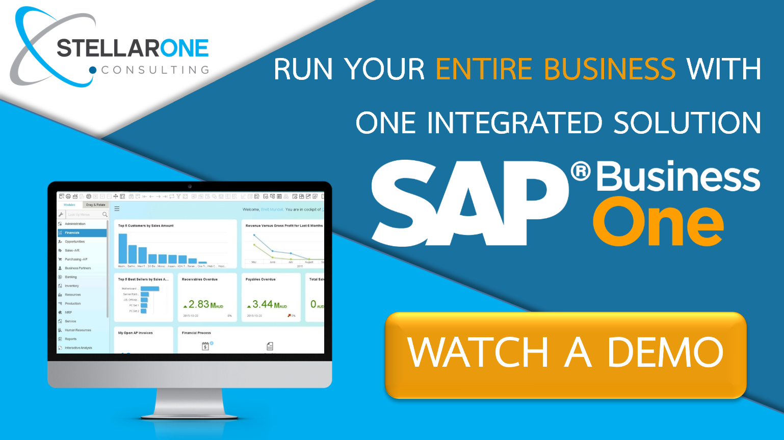 Watch a Demo of SAP Business One Cloud ERP Software with Stellar One