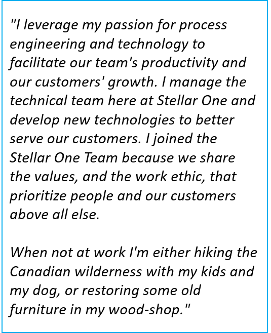 Denis Doiron is the Director of Technical Services at Stellar One Consulting, an SAP Partner specializing in SAP Business One ERP implementations.