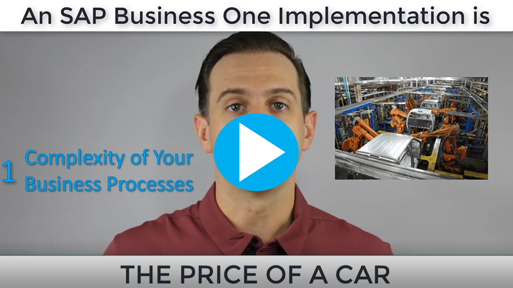 How much does an SAP Business One implementation cost?