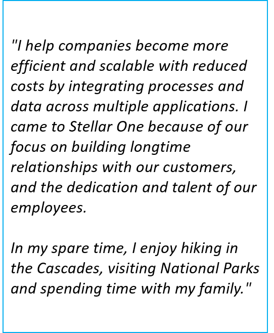 Mark Pierson is a Rapid Application Development Manager at Stellar One Consulting, an SAP Partner specializing in SAP Business One ERP implementations